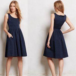 ORLA KIELY Navy Blue Sleeveless Quilted Aude Dress